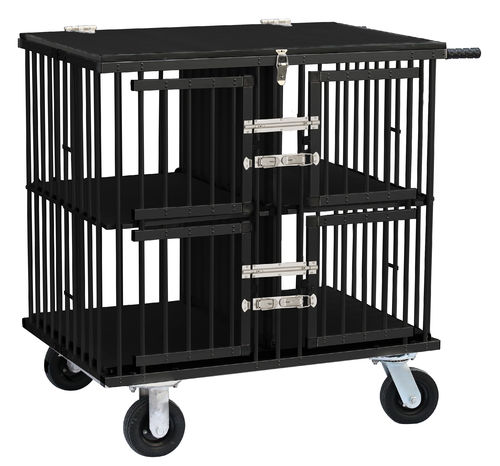 Trolley for dog/cat shows, 4 doors